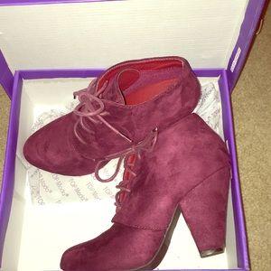 women's short boot heel